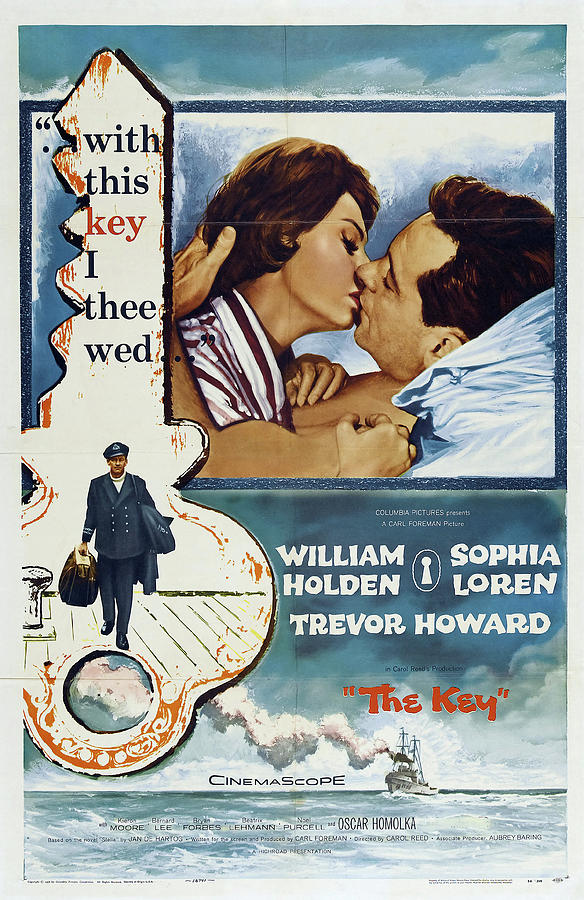 the Key With William Holden And Sophia Loren, 1958 Mixed Media