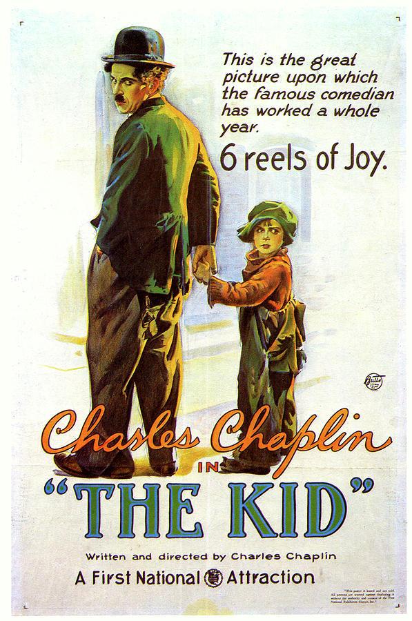 the Kid Chaplin Movie Poster 1921 Mixed Media