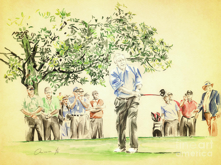 Arnold Palmer Painting - The King under Magnolia by Olivera Cejovic