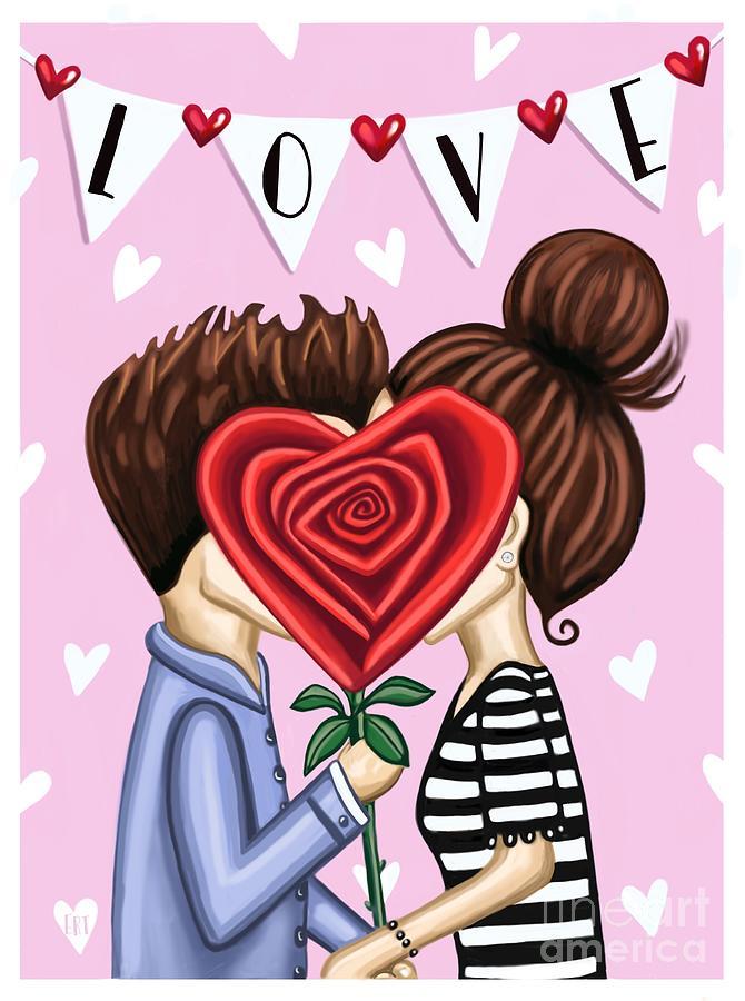 The Kiss by Elizabeth Robinette Tyndall
