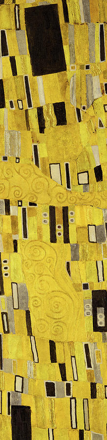 Gustav Klimt The Kiss Painting - The Kiss, Ornament No.8 by Gustav Klimt