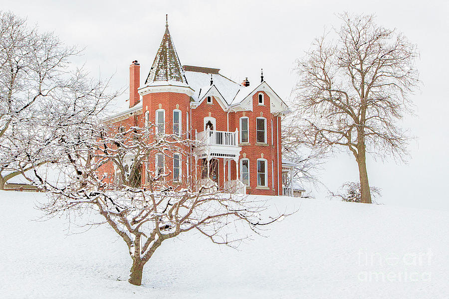 The Kitchen House in Winter Photograph by Marilyn Cornwell