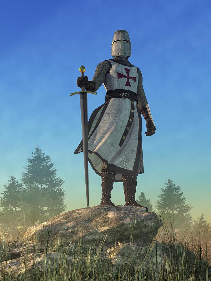 The Knight Templar Digital Art