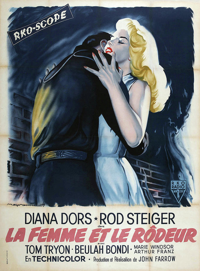 the Lady And The Prowler, With Diana Dors And Rod Steiger, 1957 Mixed Media
