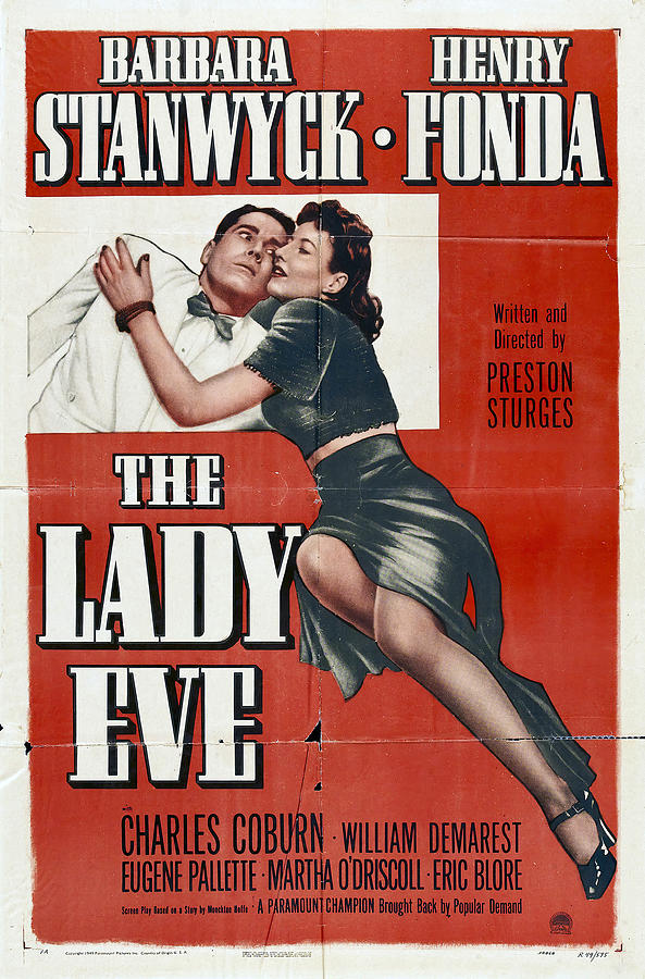 the Lady Eve, With Barbara Stanwyck And Henry Fonda, 1941 Mixed Media