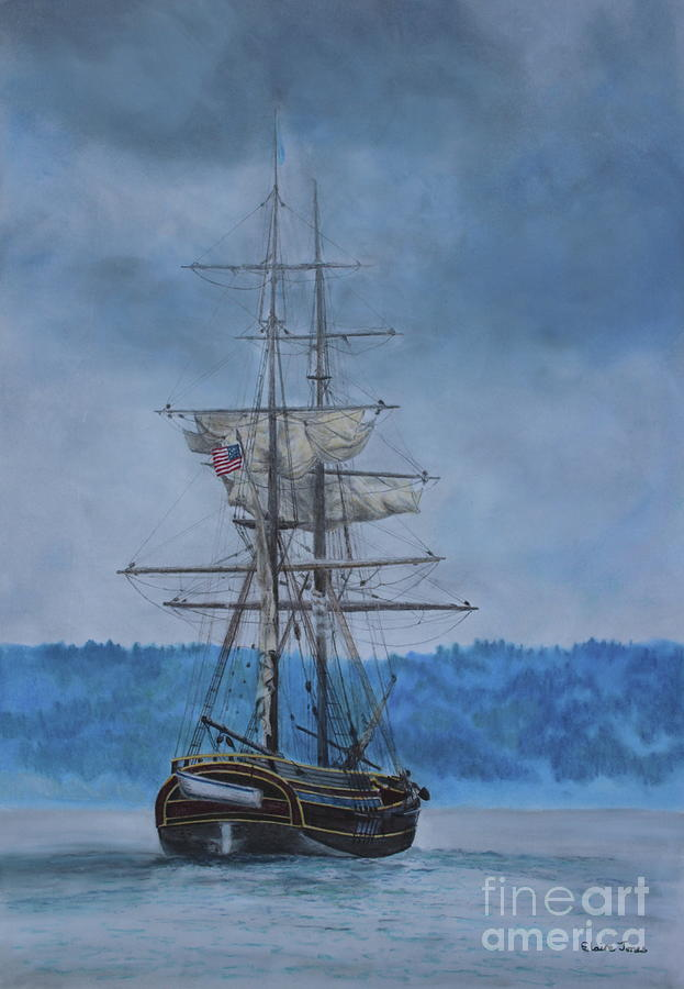 The Lady Washington Brig by Elaine Jones