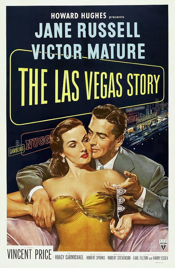 the Las Vegas Story, With Jane Russell And Victor Mature, 1952 Mixed Media