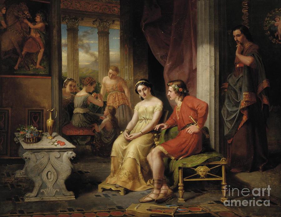 The Last Days of Pompeii, Glaucus and Ione by W Colby