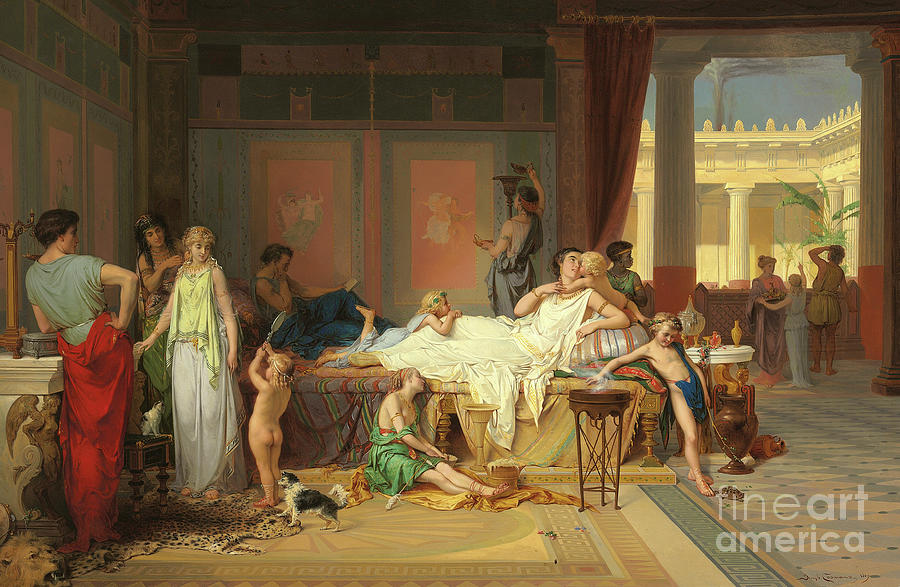 The Last Hour of Pompeii, the House of the Poet by Pierre Oliver Joseph Coomans