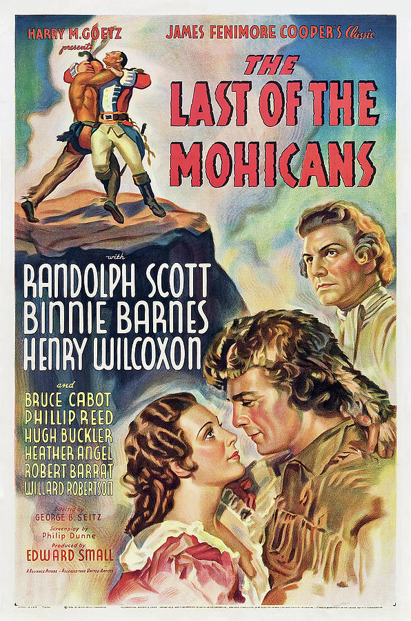 the Last Of The Mohicans, With Randolph Scott And Binnie Barnes, 1936 Mixed Media