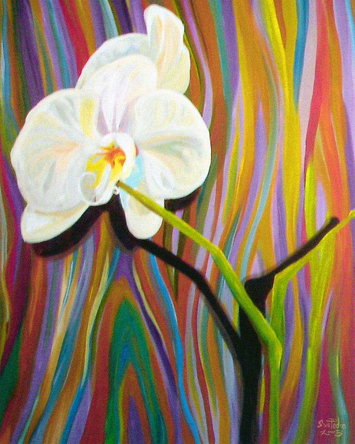 Orchid Painting - The Last Orchid by Nick San Pedro