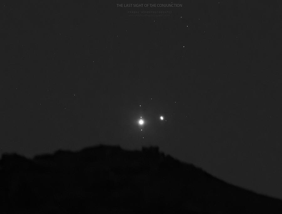 The Last sight of the Conjunction Photograph by Prabhu Astrophotography