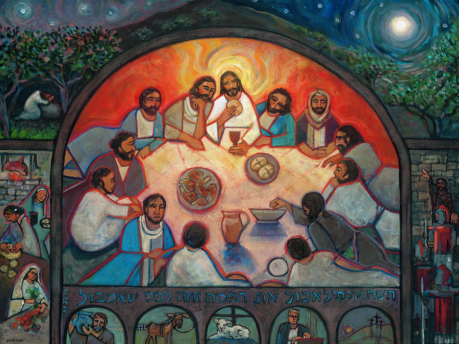 Last Supper Painting - The Last Supper by Jen Norton