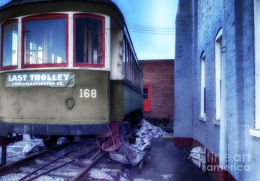 Trolley Photograph - The Last Trolley  by Steven Digman