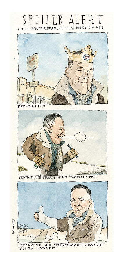 The Latest from Bruce Springsteen A Sneak Peek Painting by Barry Blitt