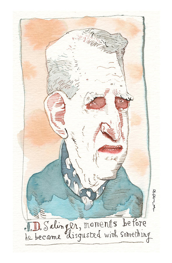 The Latest On J.d.salinger Unearthed Painting by Barry Blitt