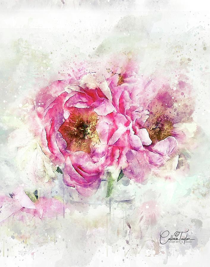 The Lavish Roses Mixed Media