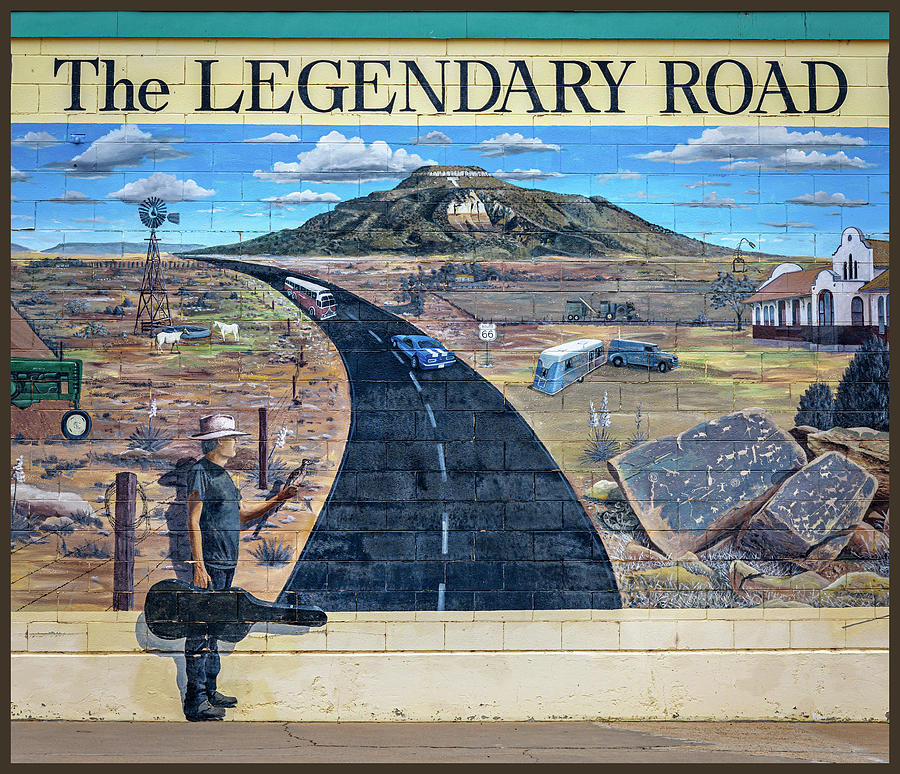 The Legendary Road Mural In Tucumcari New Mexico Photograph