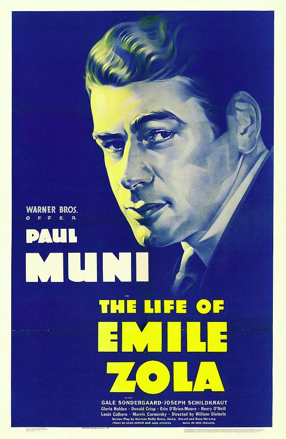 the Life Of Emile Zola, With Paul Muni, 1937 Mixed Media