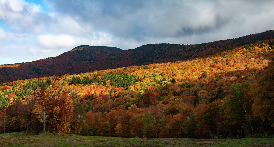 The light and dark of Peak  Fall Color by Jeff Folger
