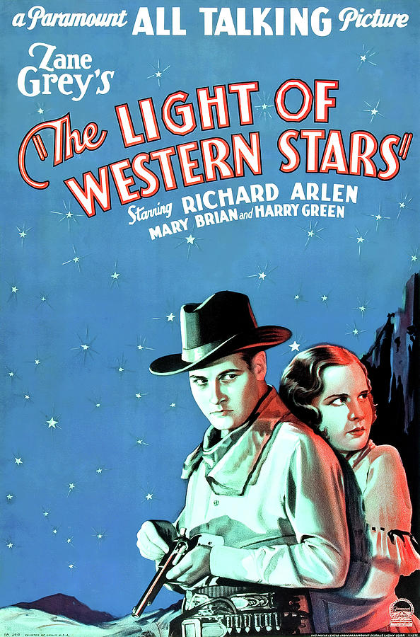 the Light Of Western Stars, With Richard Arlen, 1930 Mixed Media