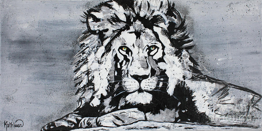 The Lion On The Rock Painting Painting