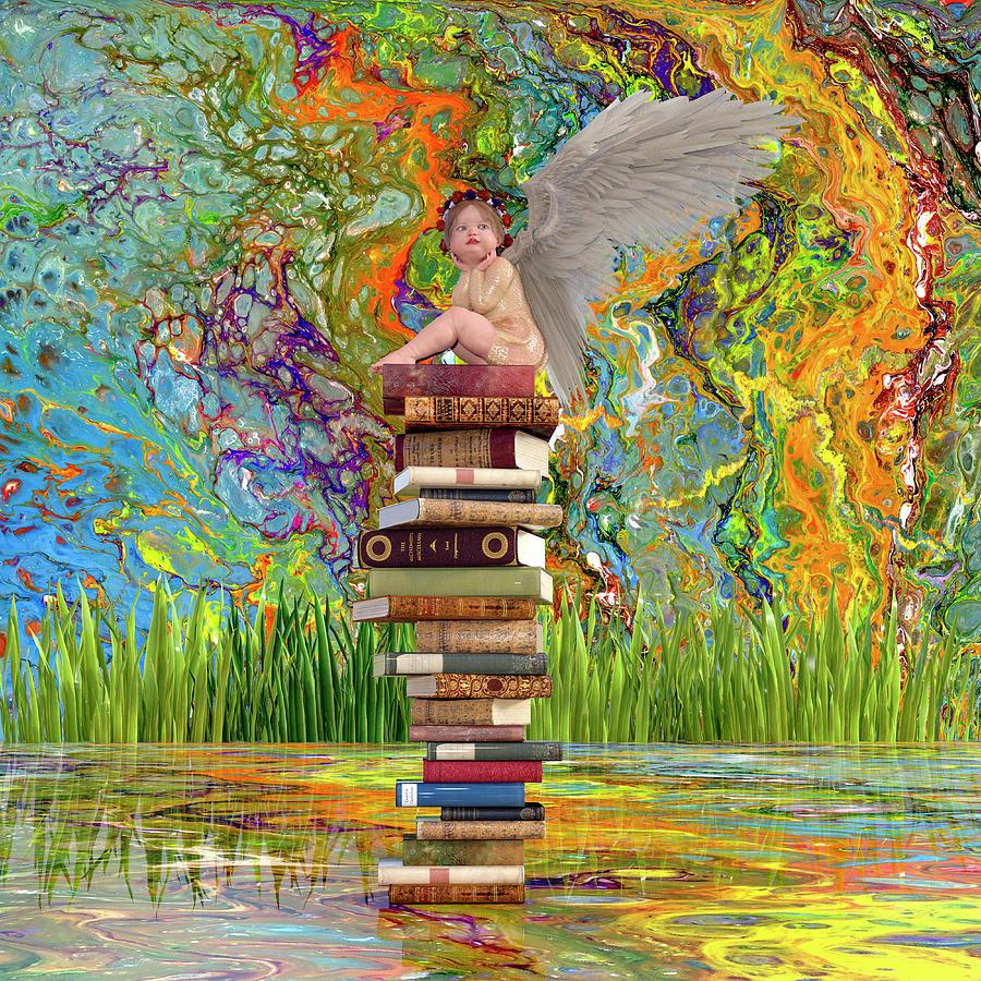 The Little Librarian Digital Art