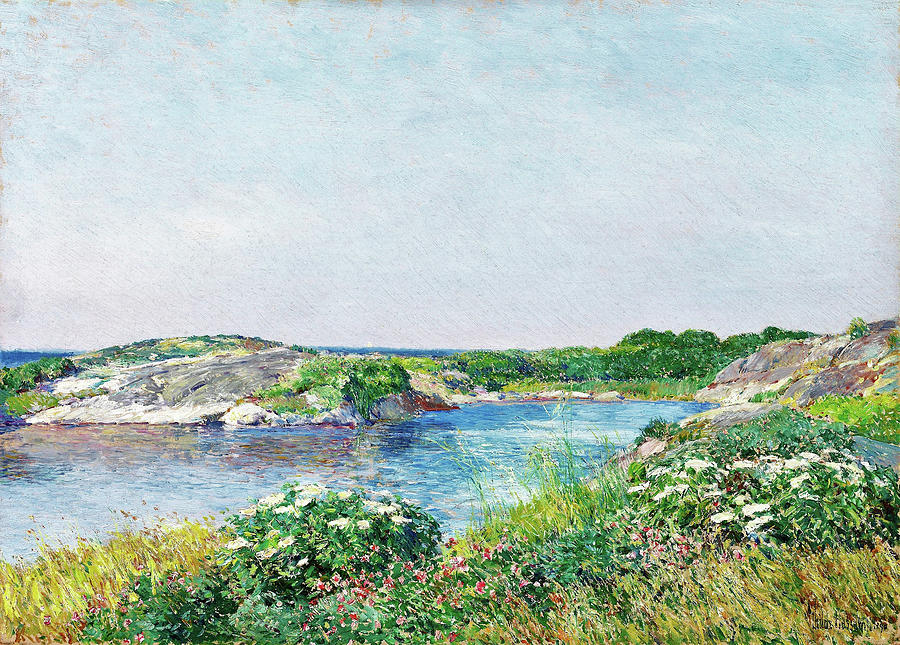 Appledore Painting - The Little Pond, Appledore - Digital Remastered Edition by Frederick Childe Hassam