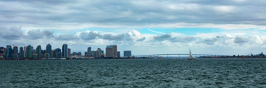 The Lone Sailor - Panorama Photograph