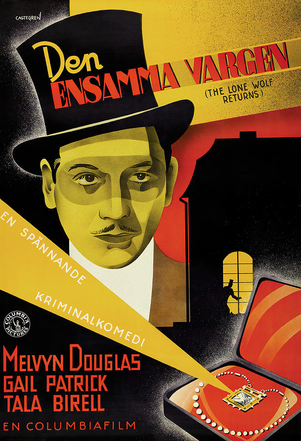 the Lone Wolf Returns, With Melvyn Douglas, 1935 Mixed Media