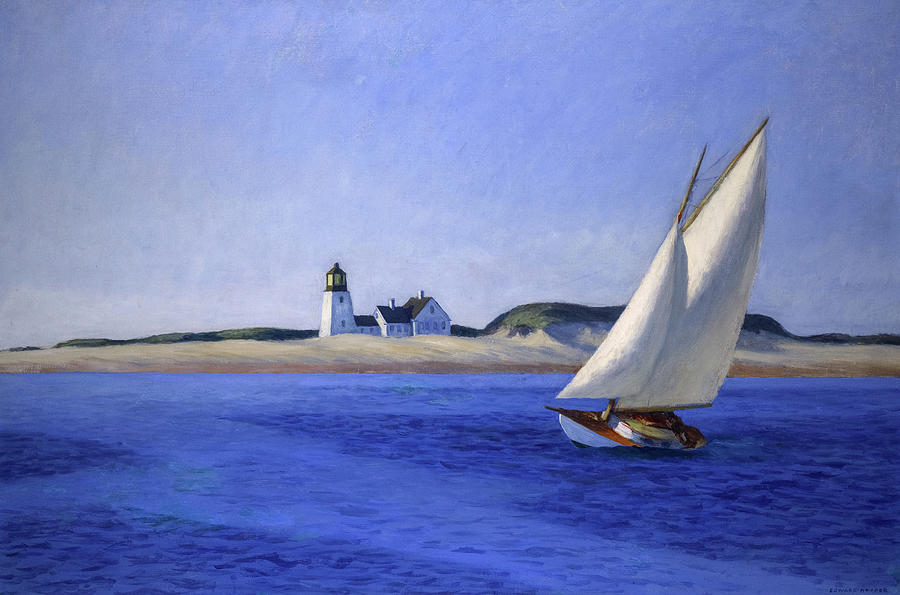 Edward Hopper Painting - The Long Leg by Edward Hopper