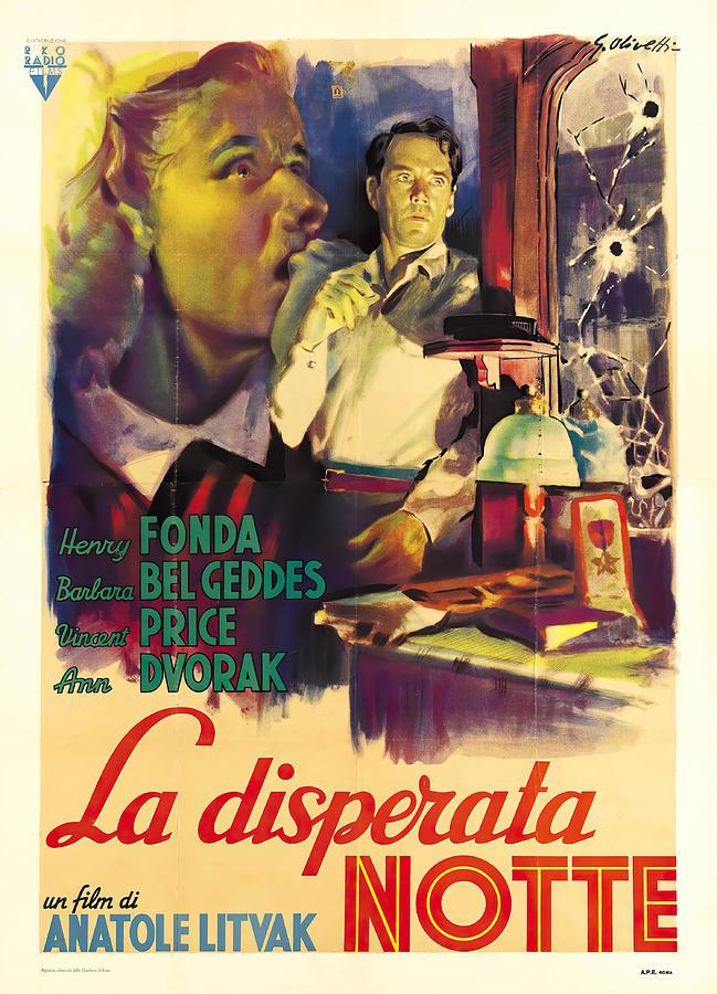 the Long Night, With Henry Fonda, 1946 Mixed Media