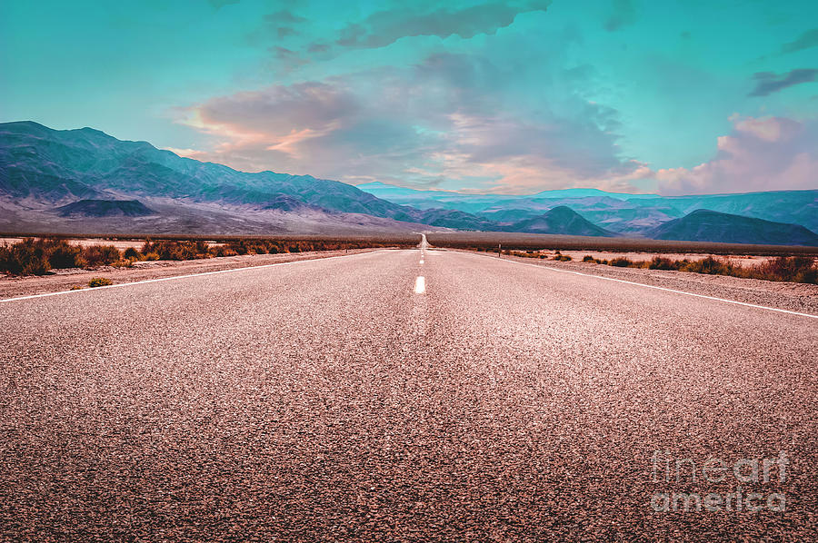 The Long Road Of Death Valley 1 Photograph