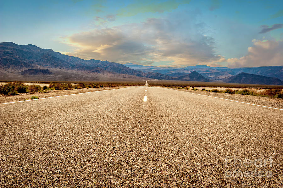 The Long Road To Death Valley 2 Photograph