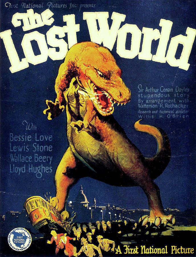 the Lost World Movie Poster 1925 Mixed Media