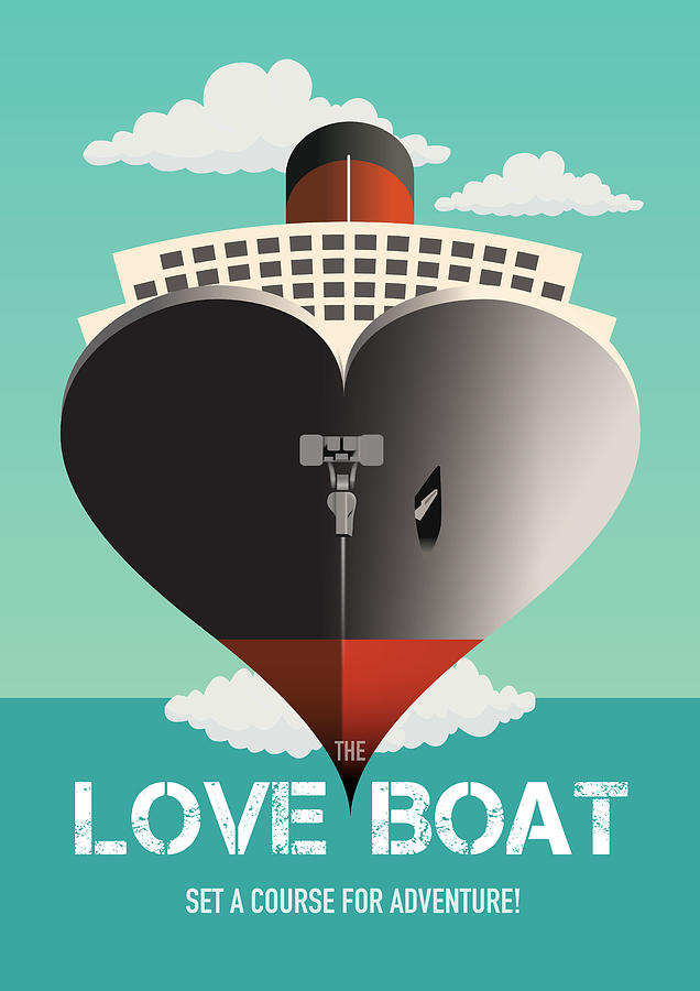 The Love Boat Digital Art - The Love Boat - Alternative Movie Poster by Movie Poster Boy