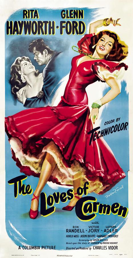the Loves Of Carmen, With Rita Hayworth, 1948 Mixed Media
