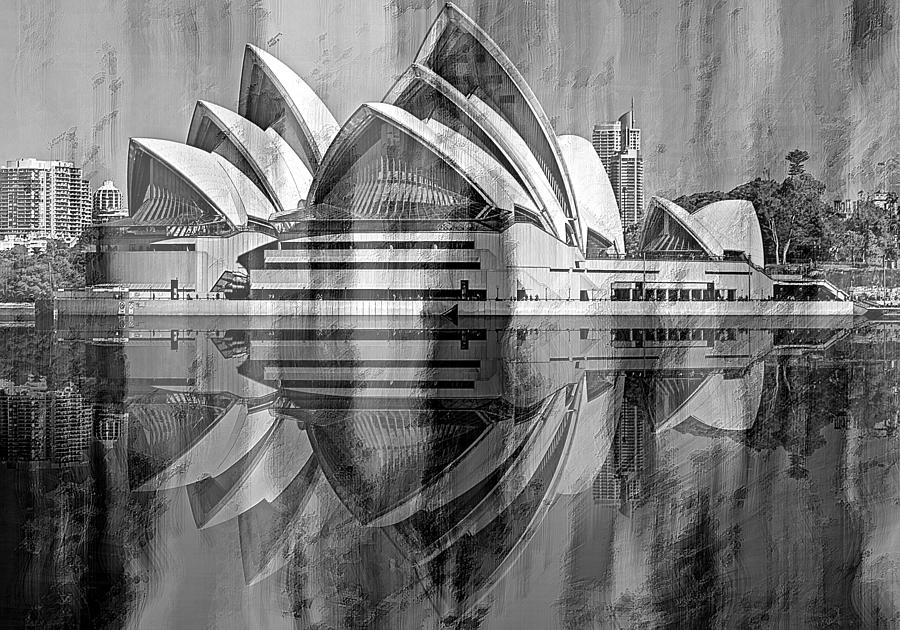 The Magnificent Opera House in Black by David Manlove