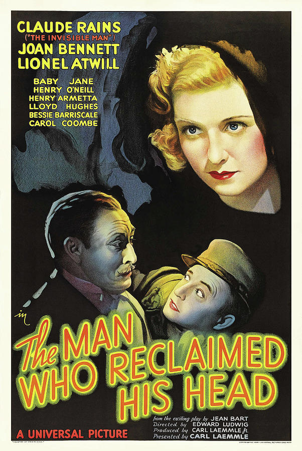 the Man Who Reclaimed His Head - 1934 Mixed Media