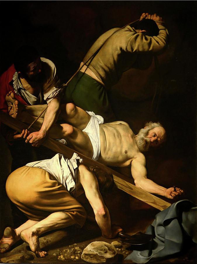 The Martyrdom of Saint Peter  by Michelangelo Merisi da Caravaggio