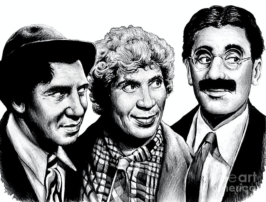 The Marx Brothers Wb Drawing
