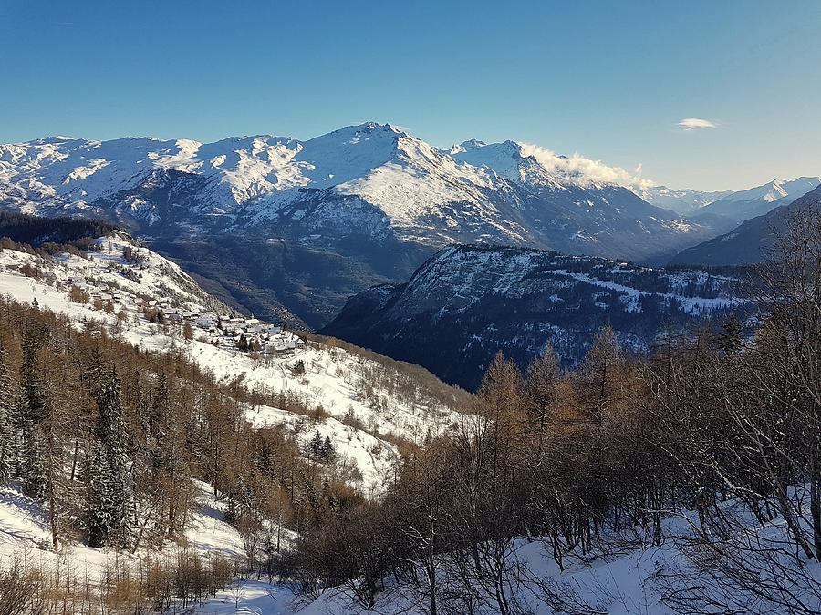 Snow Photograph - The Maurienne after a snowfall by Michael Briley