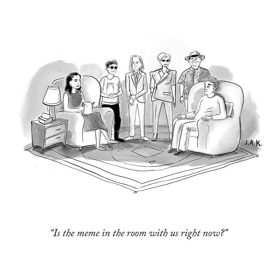 The Meme In The Room Drawing by Jason Adam Katzenstein