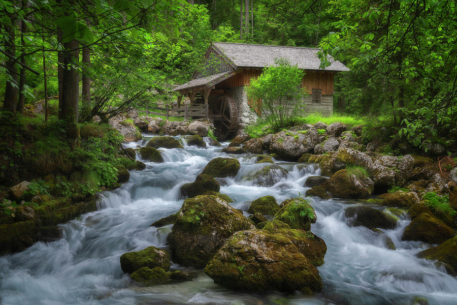 The Mill At The Gollinger Waterfall Photograph