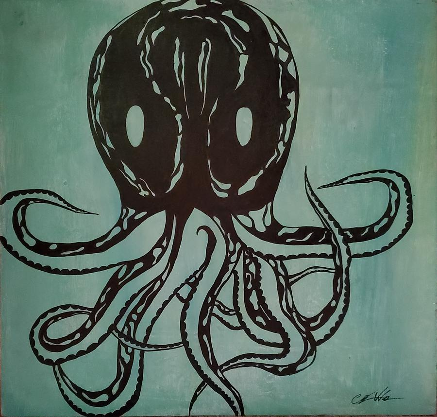 Octopus Mixed Media - The mimic  by Christopher Walton