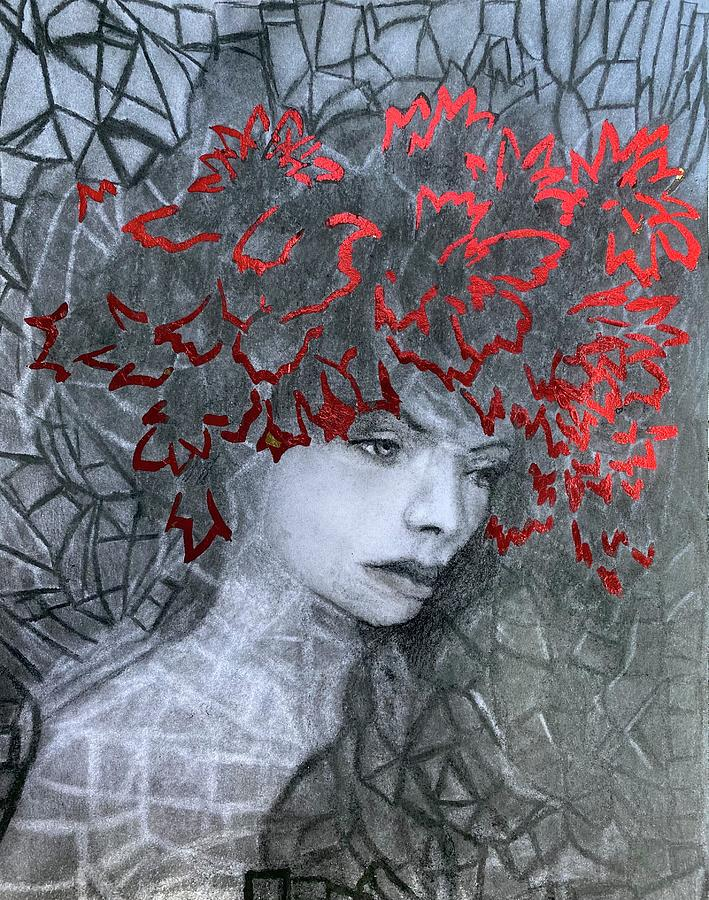 The Mirror Cracked Drawing by Nadija Armusik