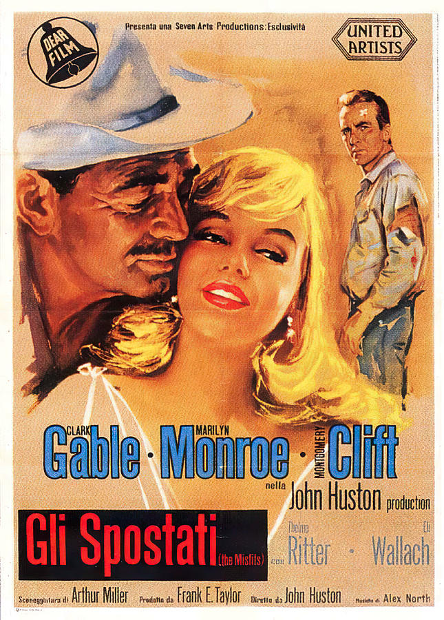 the Misfits, With Clark Gable And Marilyn Monroe, 1961-2 Mixed Media