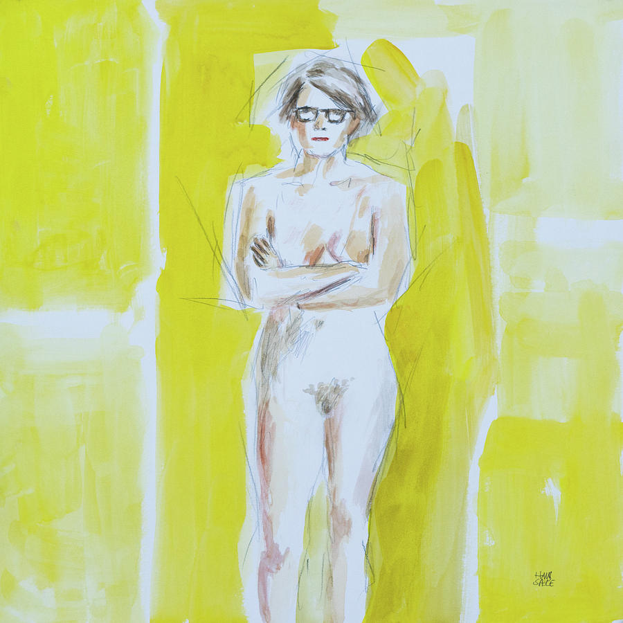 Figure Painting in Yellow 2 by Hans Egil Saele