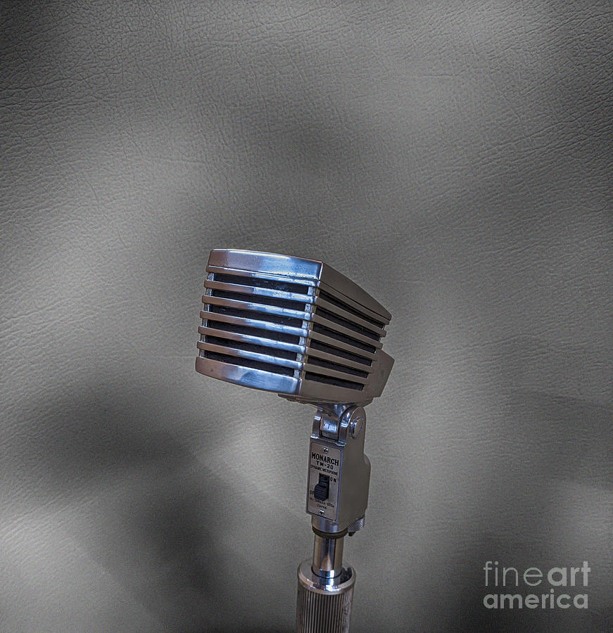 Microphones Photograph - The Monarch of Sound  by Steven Digman
