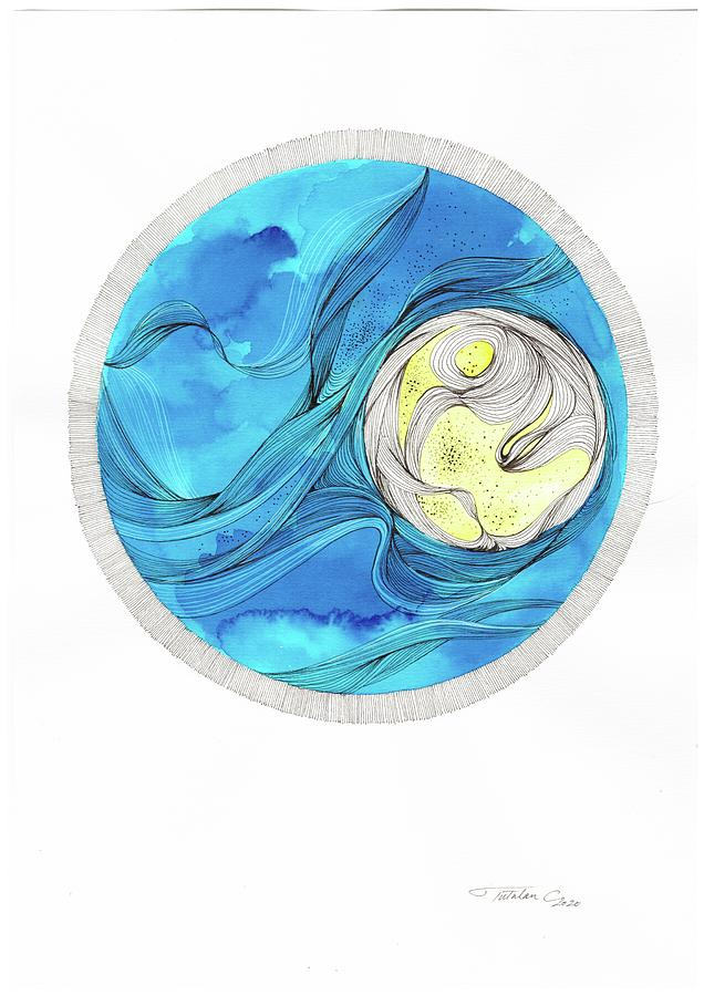 Moon Painting - The Moon by Camelia Tutulan